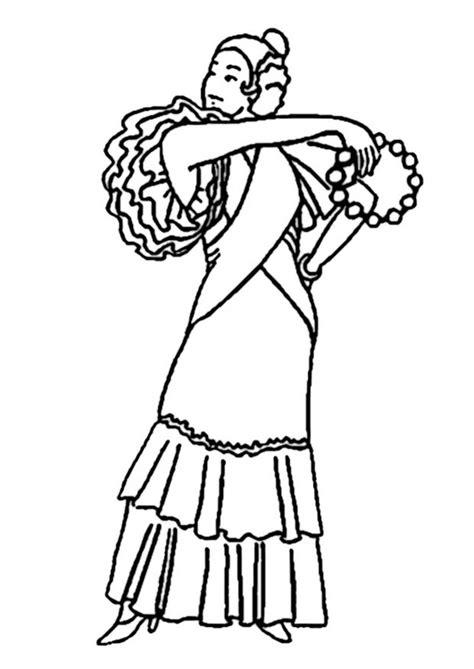 imagenes para colorear vestido dibujo para colorear vestido de flamenco img 19006