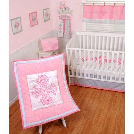 princess nursery bedding sets sumersault princess crib bedding 4 set walmart