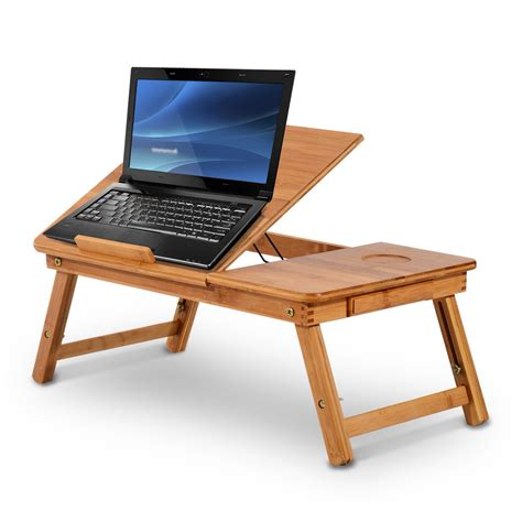 laptop table for bed homcom foldable laptop bed stand desk notebook computer