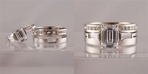 Wedding Bands To Fit Around Engagement Ring by Emerald Cut Engagement Rings With Wedding Band Www