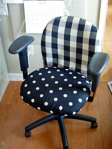 slipcovers for desk chairs diy office chair makeover with fabric in my own style