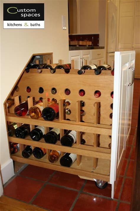under kitchen pull out storage pull out wine storage