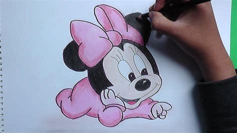 imagenes lindas de amor de minnie para el wasap dibujando y pintando bebe minnie mickey mouse minnie