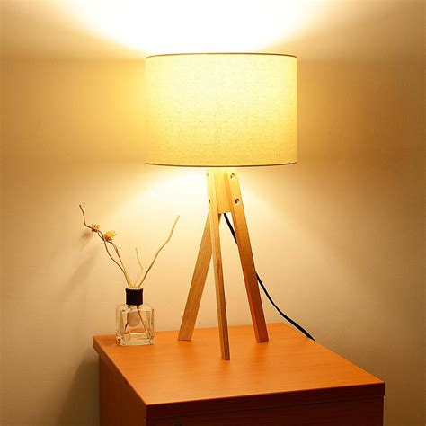 bedroom light stand modern tripod table desk floor lamp wood wooden stand home 10527 | 11dsl001 tri01 wod 07