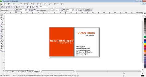 coreldraw business card tutorial business card design tutorial in coreldraw nollytech
