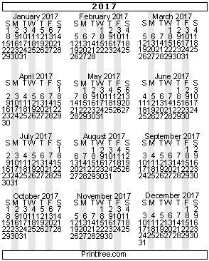 printable calendar 2017 printfree printfree com calendar 2017 calendar 2017