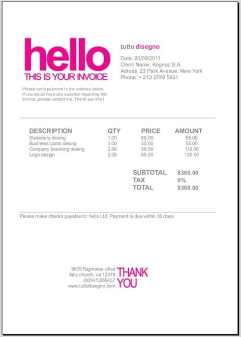 web design receipt template invoices home