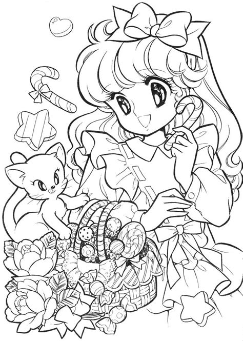 vintage japanese coloring book 9 shoujo coloring for manga coloring ぬりえ ジョアンナ ぬりえ pinterest