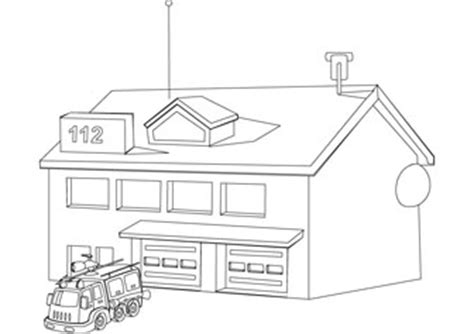 fire house coloring pages