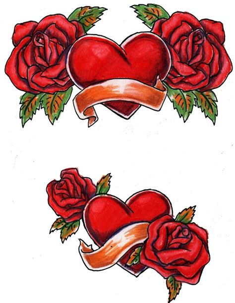 large rose tattoo designs large free printable designs hearts and roses