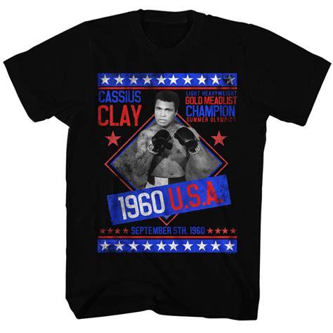 Muhammad Ali Black Shirt muhammad ali shirt gold medalist black t shirt muhammad