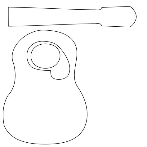 guitar templates acoustic guitar template www imgkid the image kid