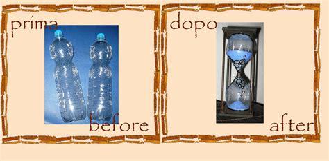 ladari fai da te riciclo riciclo creativo bottiglie di plastica clessidra faidate
