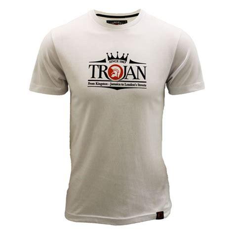 Tshirt Trojan 4 trojan records t shirt trojan logo mens white crewe neck