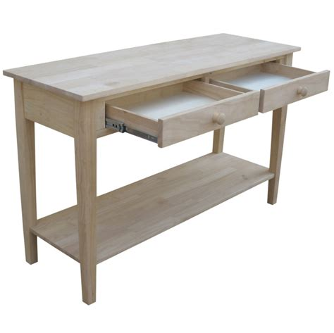 sofa server table spencer solid parawood 48 w x 30 h sofa server table