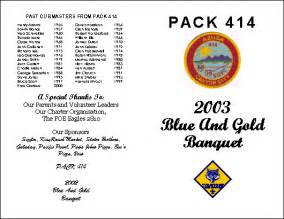 blue and gold banquet at cub scout pack 414