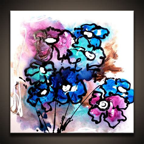 how to paint using acrylic paint on canvas how to paint abstract flowers using acrylic paint on