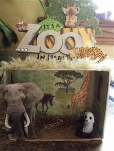 printable giraffe diorama shadow box diorama zoo elephant giraffe panda leopard