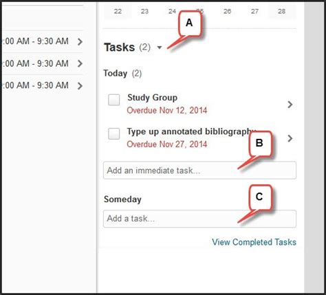 Calendar Tasks Add Calendar Tasks