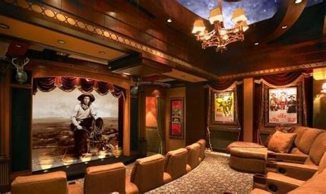 western theme home theater ideas home theater home