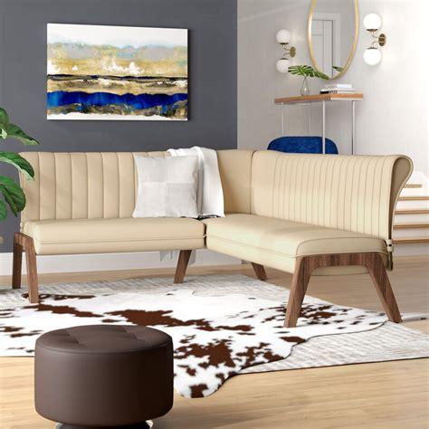 kaysen upholstered corner bench reviews allmodern