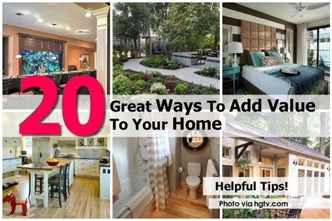 20 great ways to add value to your home