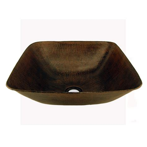 square vessel hammered copper sink kitchen and bath masters