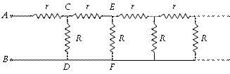 infinite resistor network equivalent resistance dc circuit problems equivalent resistance of network physics electrostatics problems