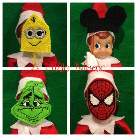 printable clothes for elf on the shelf elf on the shelf masks sneak peak a little moore