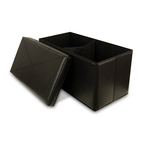 collapsible storage ottoman collapsible faux leather storage ottoman bench bellagio