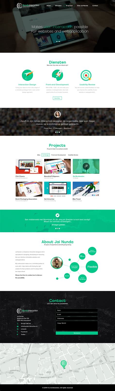 design one iconic graphics n interaction one page website design