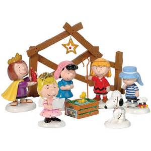 new set 8 peanuts holiday pageant figures nativity scene