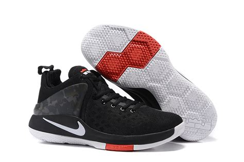 Sepatu Basket Nike Lebron Zoom Witness 2 Black White Hitam Putih nike lebron witness