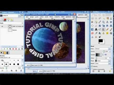 gimp tutorials string gimp tutorial text along path wmv youtube