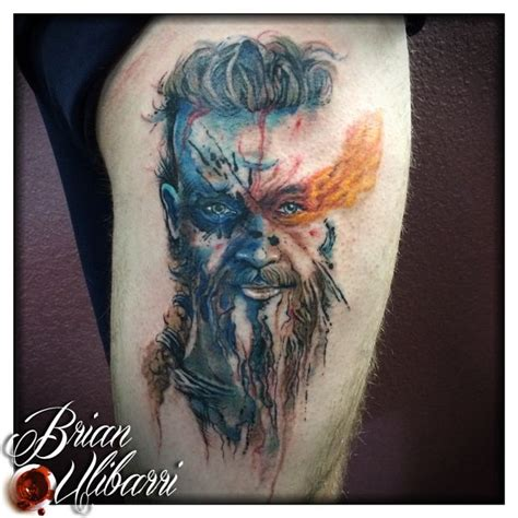 watercolor tattoos denver co painted portrait by brian ulibarri denver co