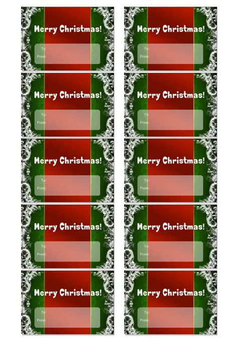 christmas tag template create custom christmas gift tags
