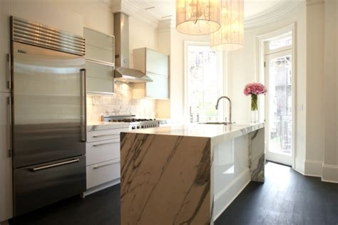 marble kitchen island claremont chandelier contemporary kitchen melissa miranda interior design