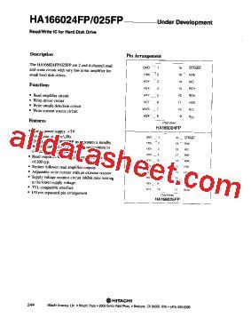 Ic Drv Strobo Abcd 2ch 4ch ha166024fp datasheet pdf hitachi semiconductor
