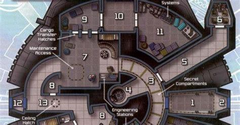 millennium falcon layout starship deckplans pinterest