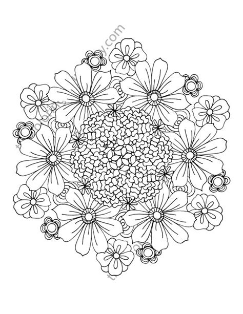 coloring pages flowers pdf flower coloring page floral adult coloring by