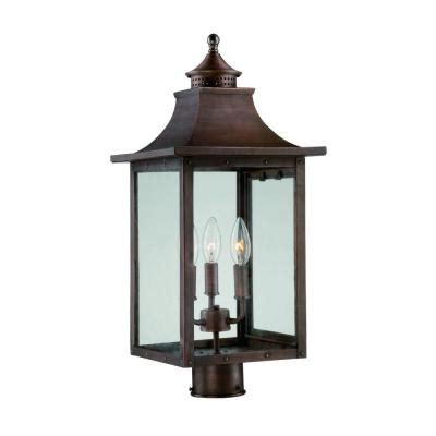Outdoor Copper Light Fixtures Acclaim Lighting St Charles 3 Light Copper Pantina Outdoor Post Light Fixture 8317cp The Home
