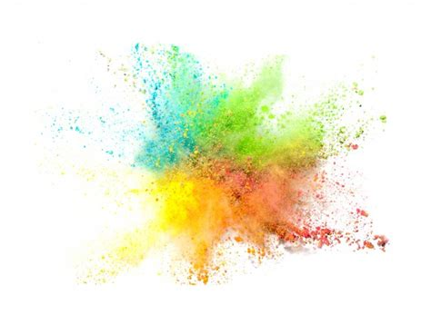 watercolor explosion tutorial explosion of colored powder on white background photo