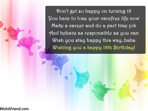 Quotes For 18th Birthday 18th Birthday Sayings