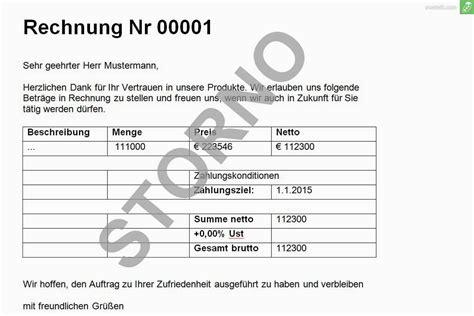 Rechnungskorrektur Umsatzsteuer Muster gewusst wie rechnung stornieren everbill magazin