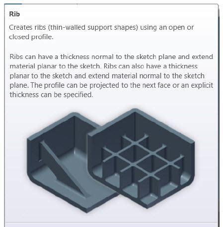House Designing Software creating plastic features in inventor ribs synergis