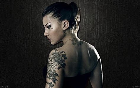 hot tattooed girl tattoos wallpaper
