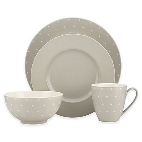 kate spade dinnerware kate spade new york larabee dot grey dinnerware collection bed bath beyond