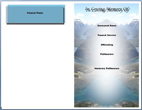 microsoft office funeral program template the gallery for gt funeral program background free