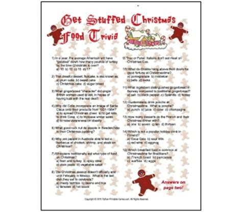printable christmas food quiz 7 best images of printable food trivia questions food