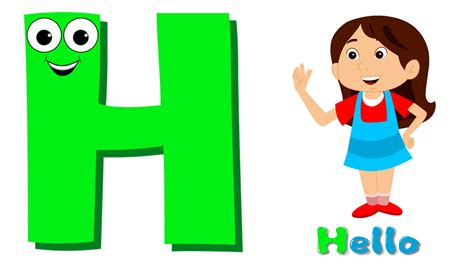A H A phonics letter h song